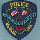 Marengo Iowa Police Patch