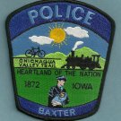 Baxter Iowa Police Patch Locomotive