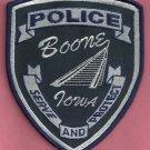 Boone Iowa Police Patch