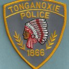 Tonganoxie Kansas Police Patch Indian