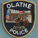 Olathe Kansas Police Patch Stage Coach