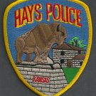 Hays Kansas Police Patch Buffalo
