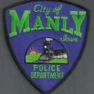 Manly Iowa Police Patch