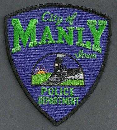 Manly Iowa Police Patch