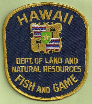 Hawaii Fish & Game Enforcement Police Patch