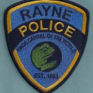 Rayne Louisiana Police Patch Frog Capital