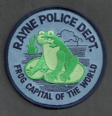 Rayne Louisiana Police Patch Frog Capital