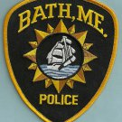Bath Maine Police Patch