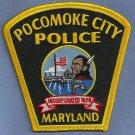 Pocomoke City Maryland Police Patch Indian