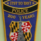 Baltimore City Maryland 200th Anniversary Police Patch