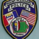Mount Pleasant Iowa Police Patch