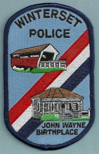Winterset Iowa Police Patch Home of John Wayne