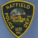 Hatfield Massachusetts Police Patch