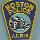 Boston Massachusetts Police Patch Capital City