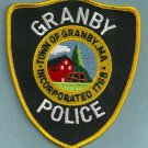 Granby Massachusetts Police Patch