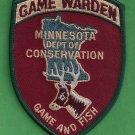Minnesota Conservation Game Warden Police Patch