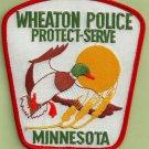 Wheaton Minnesota Police Patch