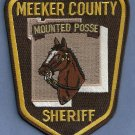 Meeker County Sheriff Minnesota Mounted Police Patch
