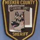 Meeker County Sheriff Minnesota K-9 Unit Police Patch
