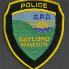 Gaylord Minnesota Police Patch