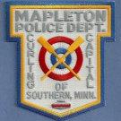 Mapleton Minnesota Police Patch Curling Capital