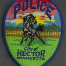 Hector Minnesota Police Patch Wild Stallion
