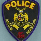 Archie Missouri Police Patch