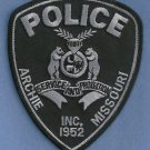 Archie Missouri Police Tactical SWAT Patch