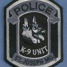 St. Joseph Missouri Police Tactical K-9 Unit Patch