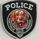 Fortville Indiana Police K-9 Unit Patch