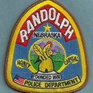 Randolph Nebraska Police Patch