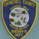 Churchill County Sheriff Nevada Police Patch