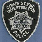 Las Vegas Nevada Police CSI Crime Scene Investigator Patch