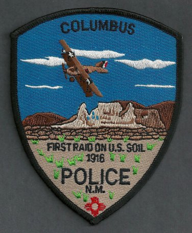 Columbus New Mexico Police Patch
