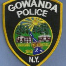 Gowanda New York Police Patch