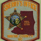 Wayne County Sheriff North Carolina Police Patch