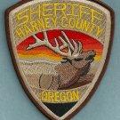 Harney County Sheriff Oregon Police Patch