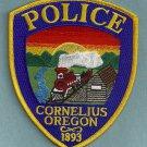 Cornelius Oregon Police Patch Locomotive