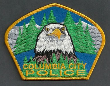 Columbia City Oregon Police Patch