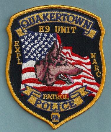 Quakertown Pennsylvania Police K-9 Unit Patch