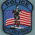 Rutland Vermont Police Patch