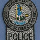Virginia Alcoholic Beverage Control Enforcement Patch