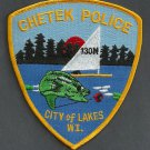 Chetek Wisconsin Police Patch