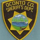 Oconto County Sheriff Wisconsin Police Patch
