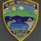 Blaine Washington Police Patch
