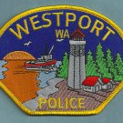 Westport Washington Police Patch Lighthouse
