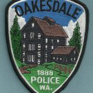 Oakesdale Washington Police Patch