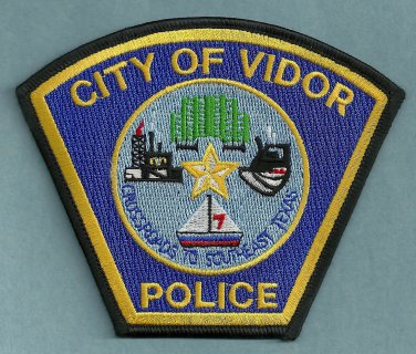 Vidor Texas Police Patch