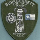 Burkburnett Texas Police Tactical Patch
