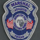 Joaquin Marshal Texas Police Patch